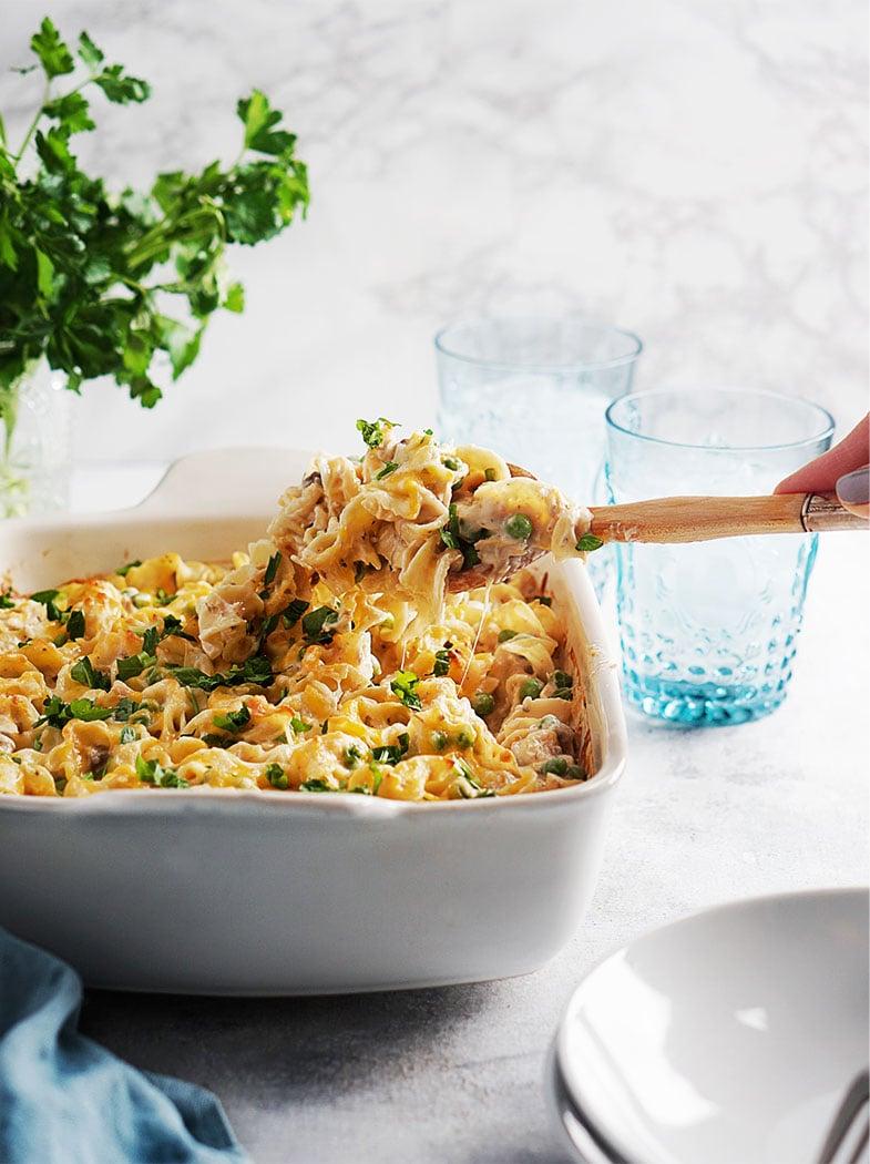 Serving Tuna Noodle Casserole