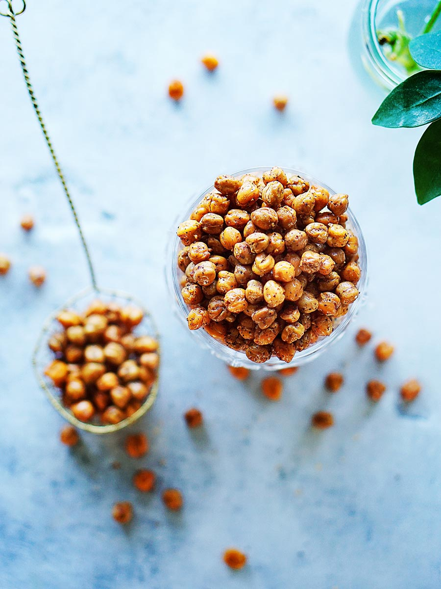 Roasted Chickpeas in a cup