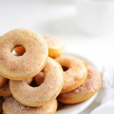 Cinnamon Donuts on a plate
