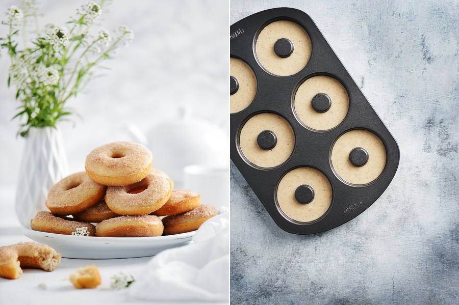 Baked dounuts with donut pan