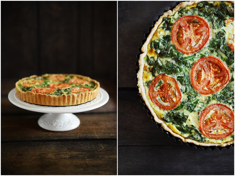 Shrimp and Spinach Quiche | by Fit, fun & delish!