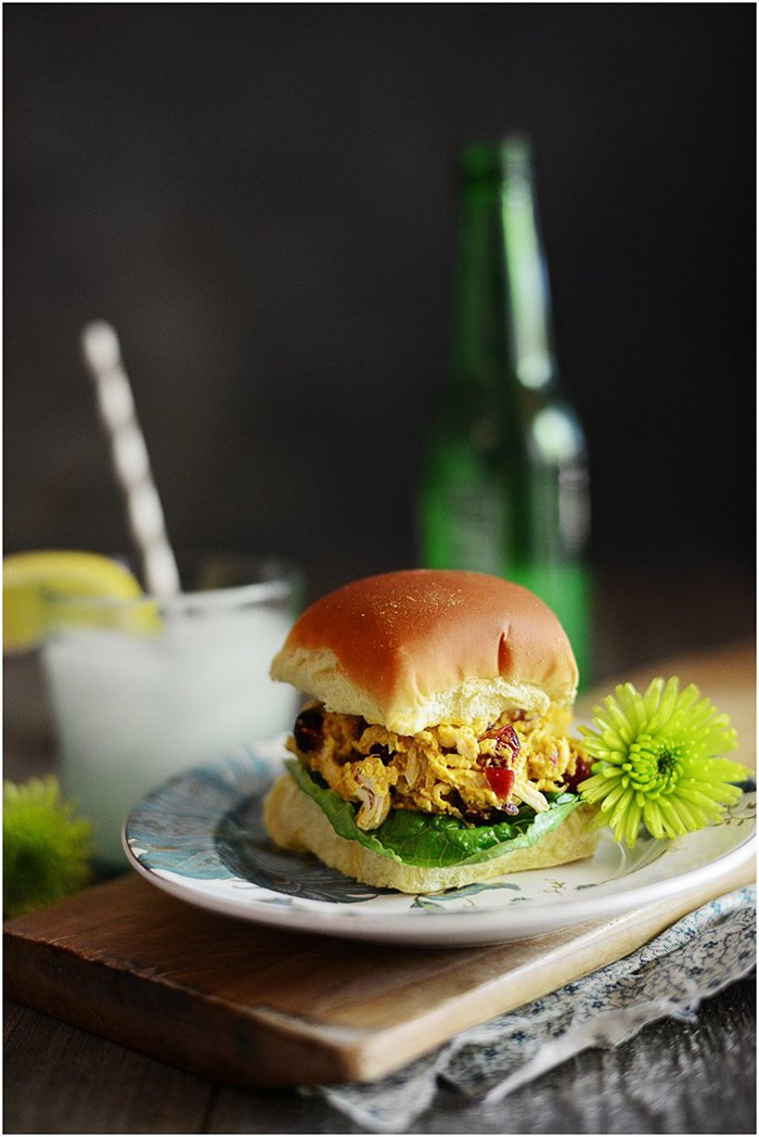 Curry Chicken Salad Sliders | Makes an excellent weekday meal and it's perfect for sharing for friends.