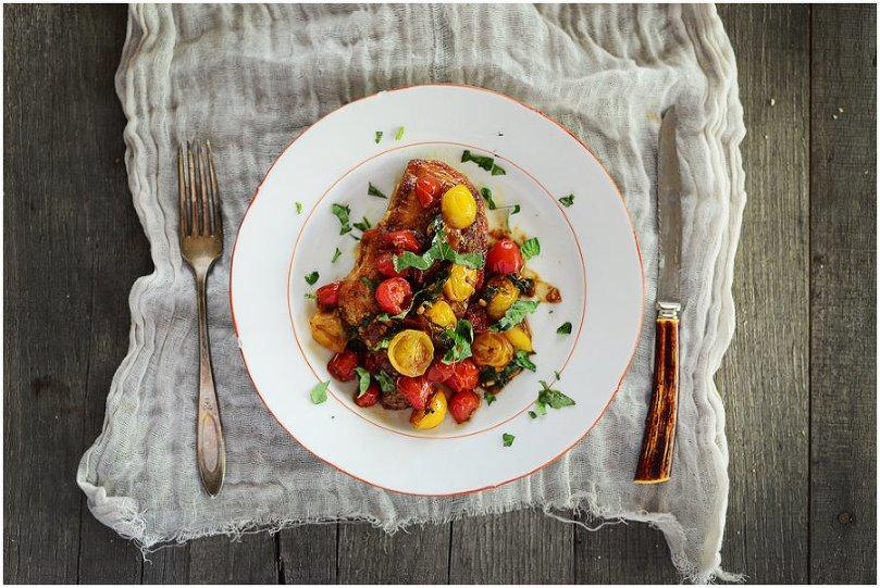 Chicken Breast w/Warm Tomato Salad - nutritious & delicious! | Fit, fun & delish!