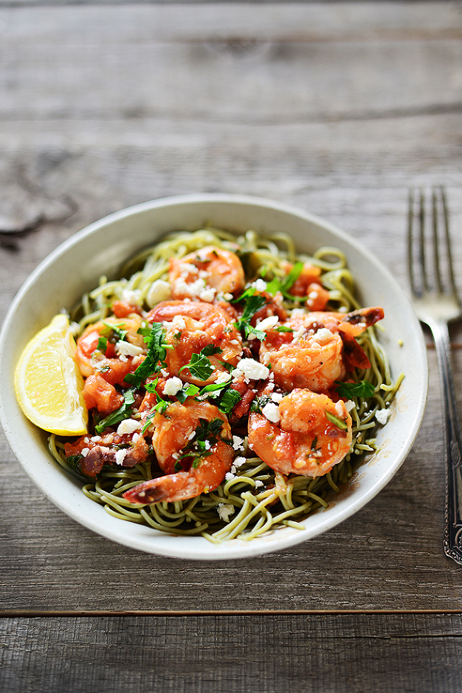 Greek Pasta With Shrimp, Feta, Tomatoes, And Olives Recipes ...