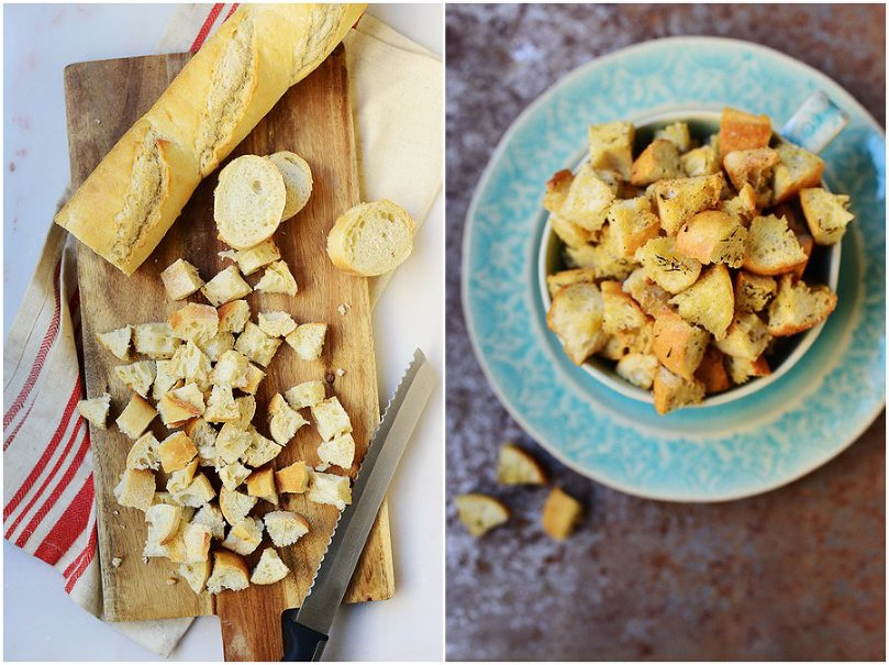 Homemade Rosemary Croutons