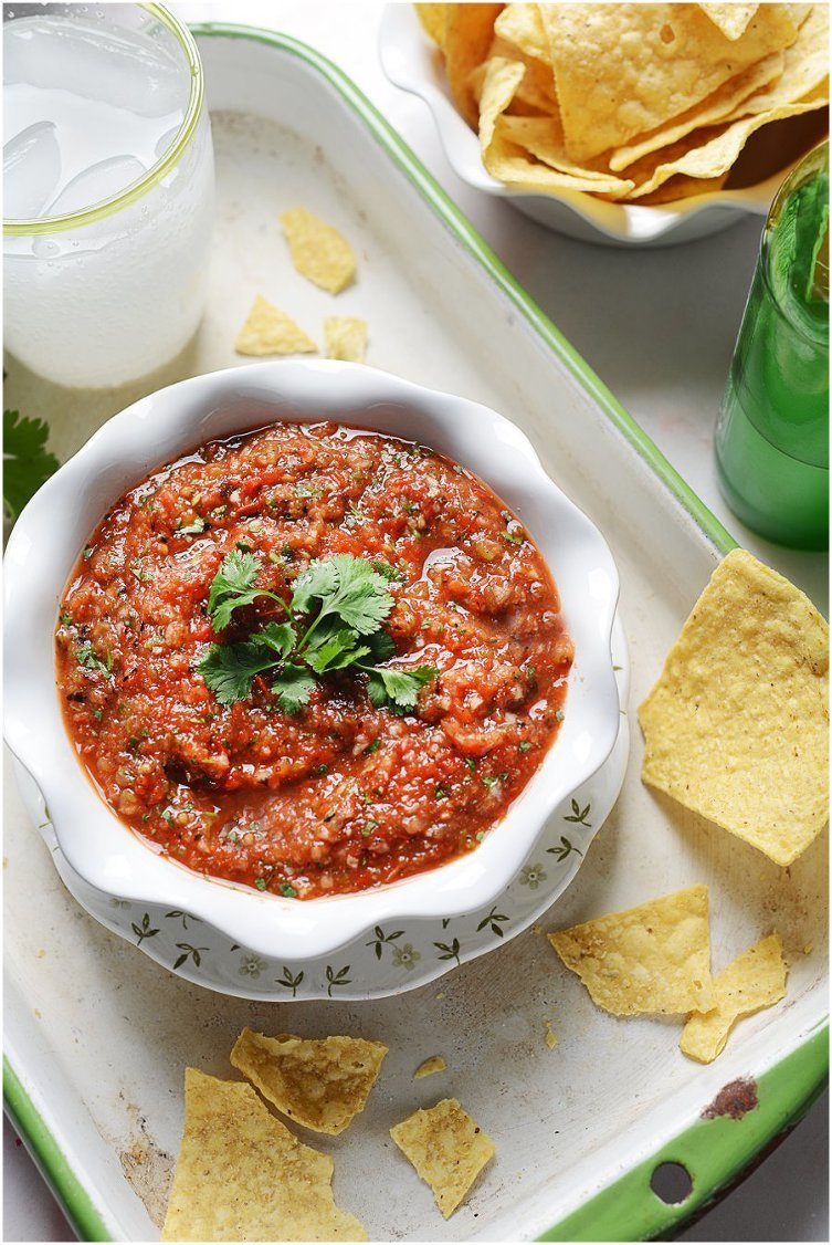 This Roasted Tomato Salsa is bright, tangy & so flavorful. It's ...