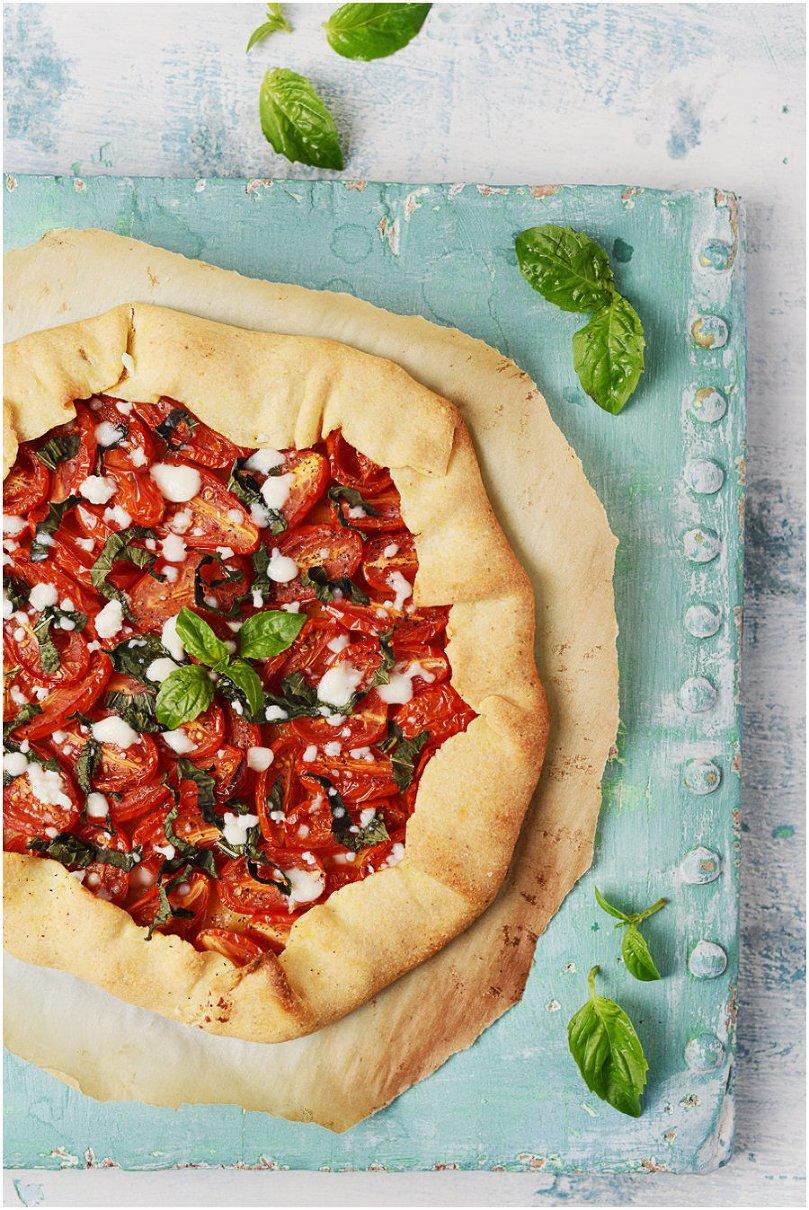 Summer Tomato & Basil Galette