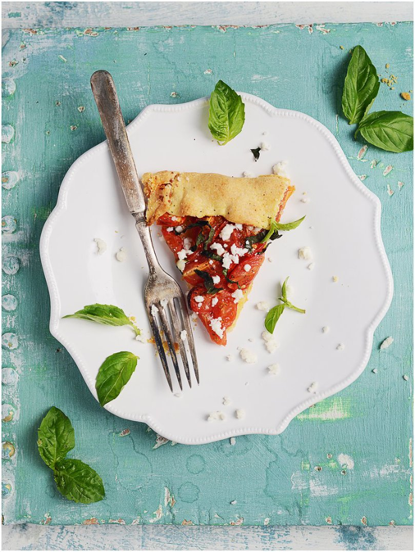 Summer Tomato & Basil Galette by Muy Delish