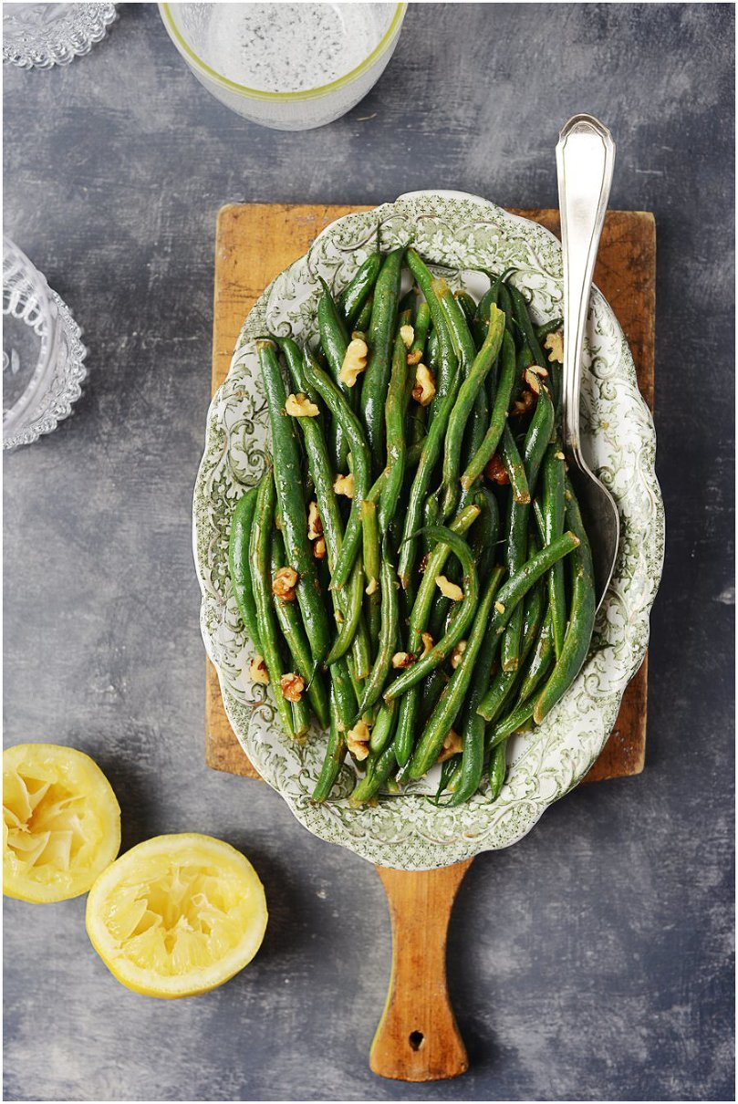 Brown Butter Green Beans and Walnuts