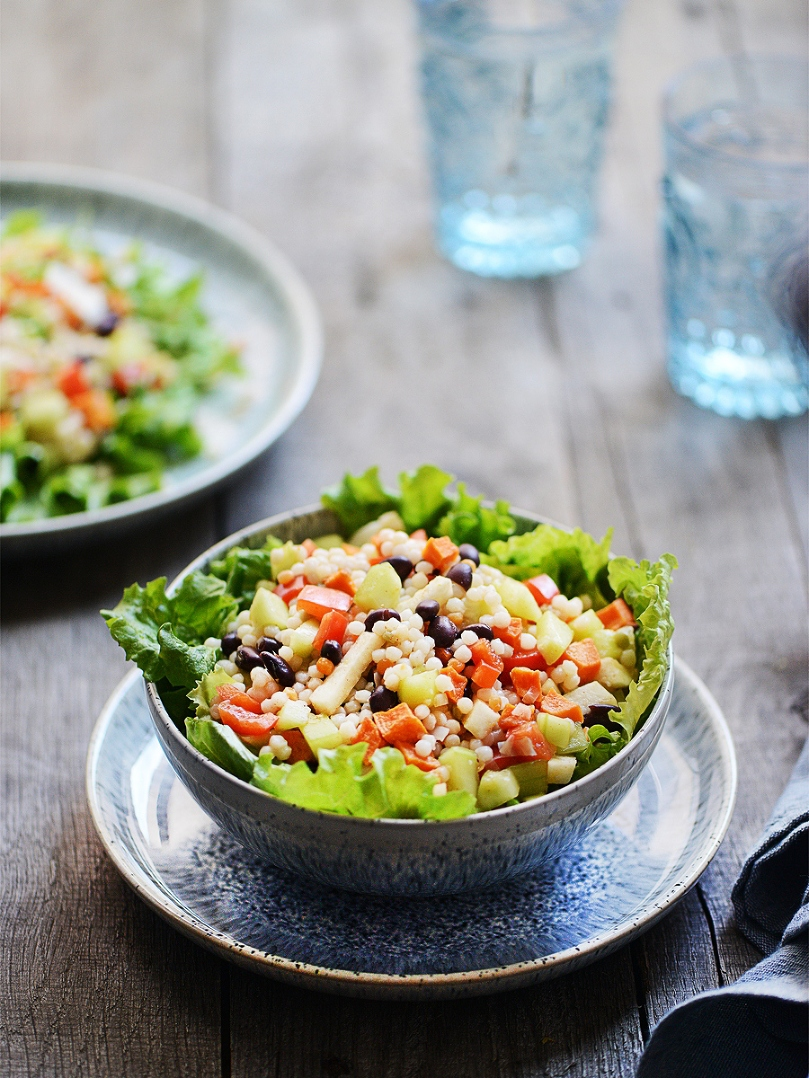 Hearty Couscous Salad with Light Chipotle Vinaigrette