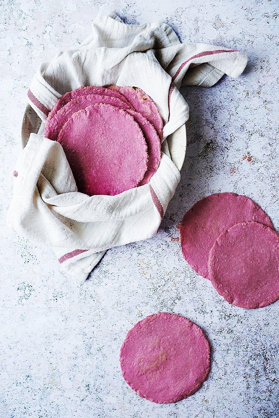 Pink Corn Tortillas by Muy Delish