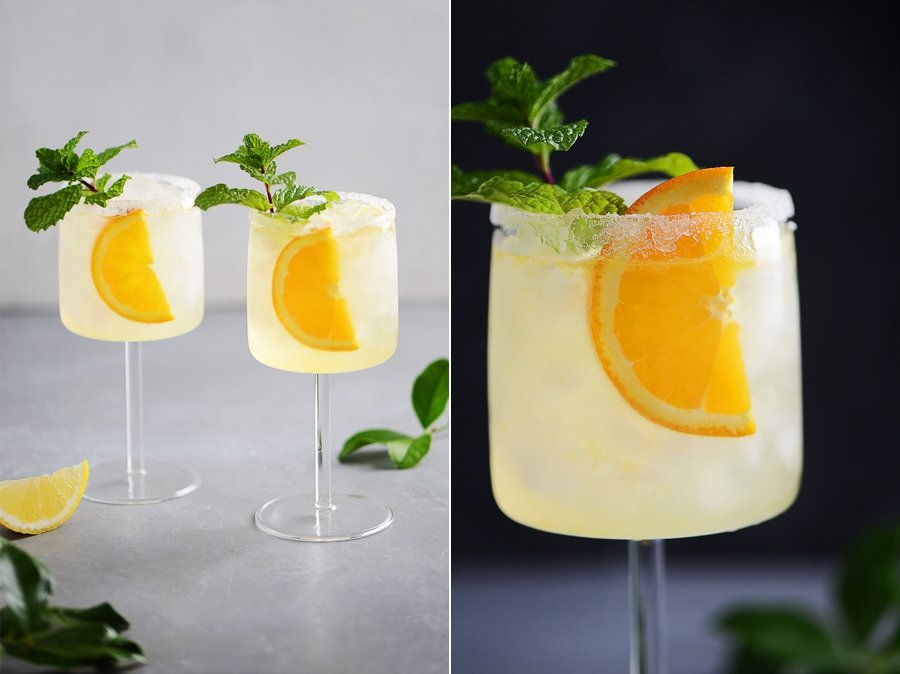 Orange and Lemon juice vodka Cocktails