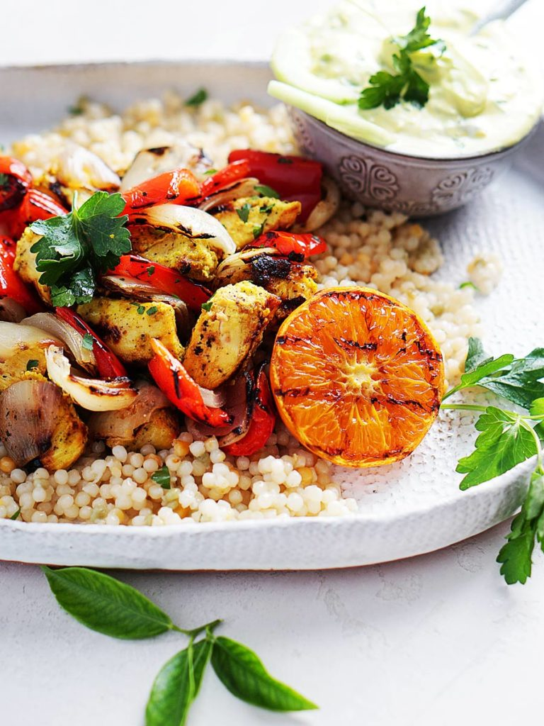 Moroccan Chicken on couscous