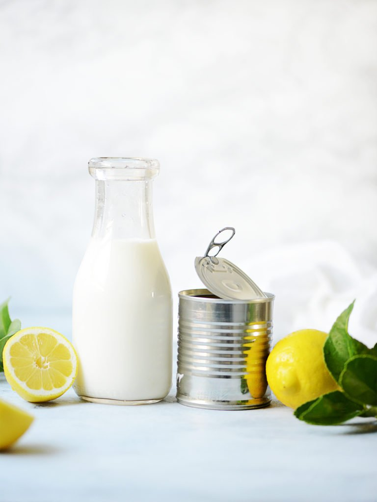 Ingredients: Lemons, a vintage jar with milk  and a small can with no label.