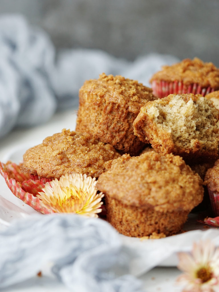 A pile of muffins
