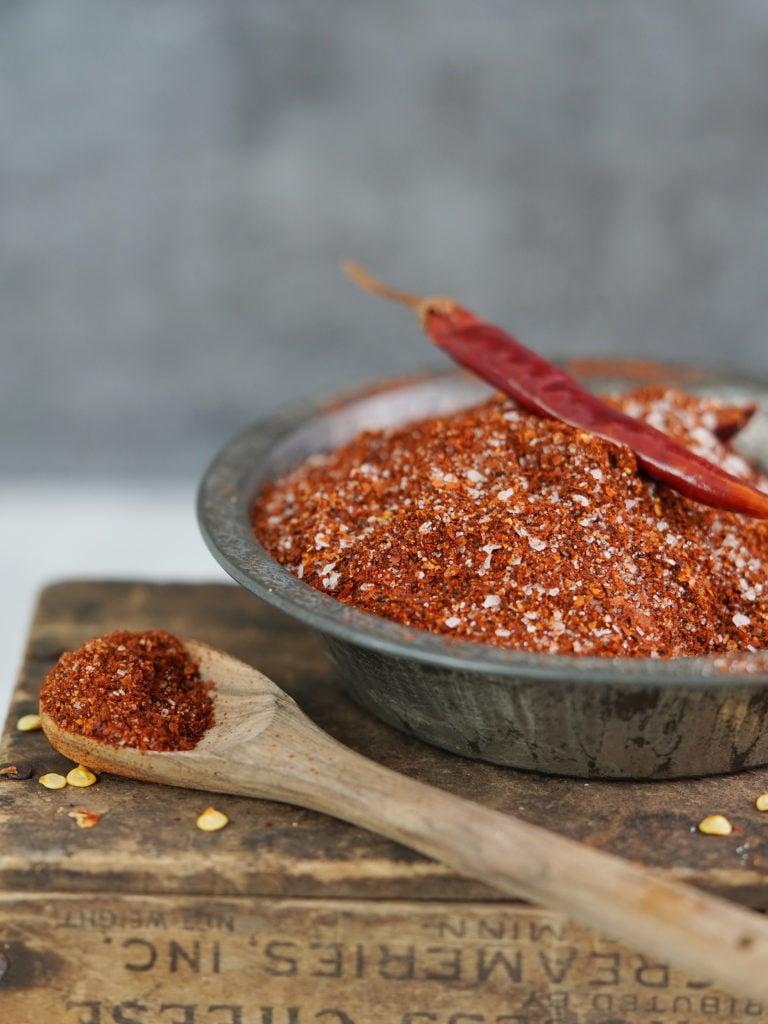 Chili powder in a small bowl