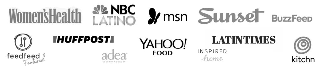 Logos from brands where featured in