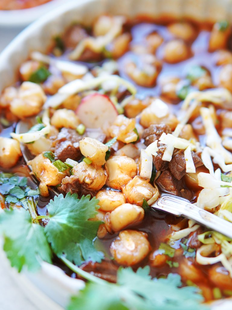 Hominy in Beef Pozole