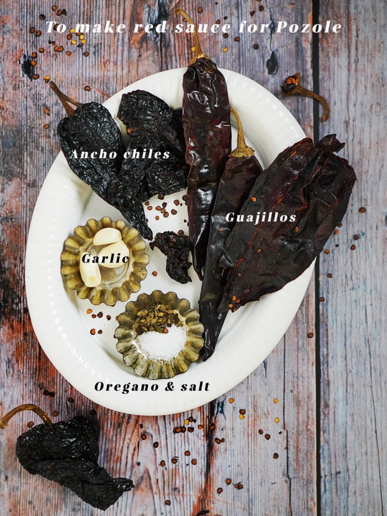 Ingredients: ancho & guajillo chiles, garlic, oregano & salt