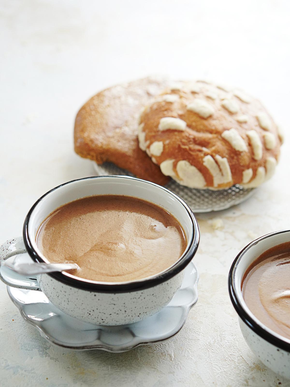 A mug with hot chocolate drink