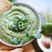 A bowl with Salsa Verde & Avocado