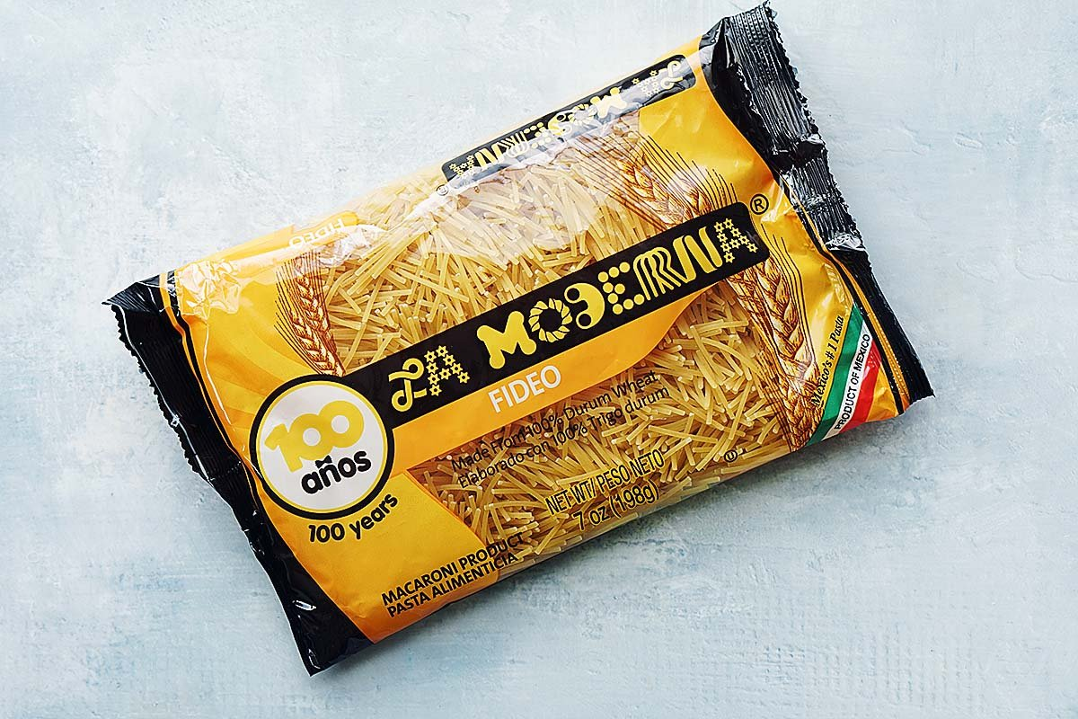 A bag of fideo pasta.